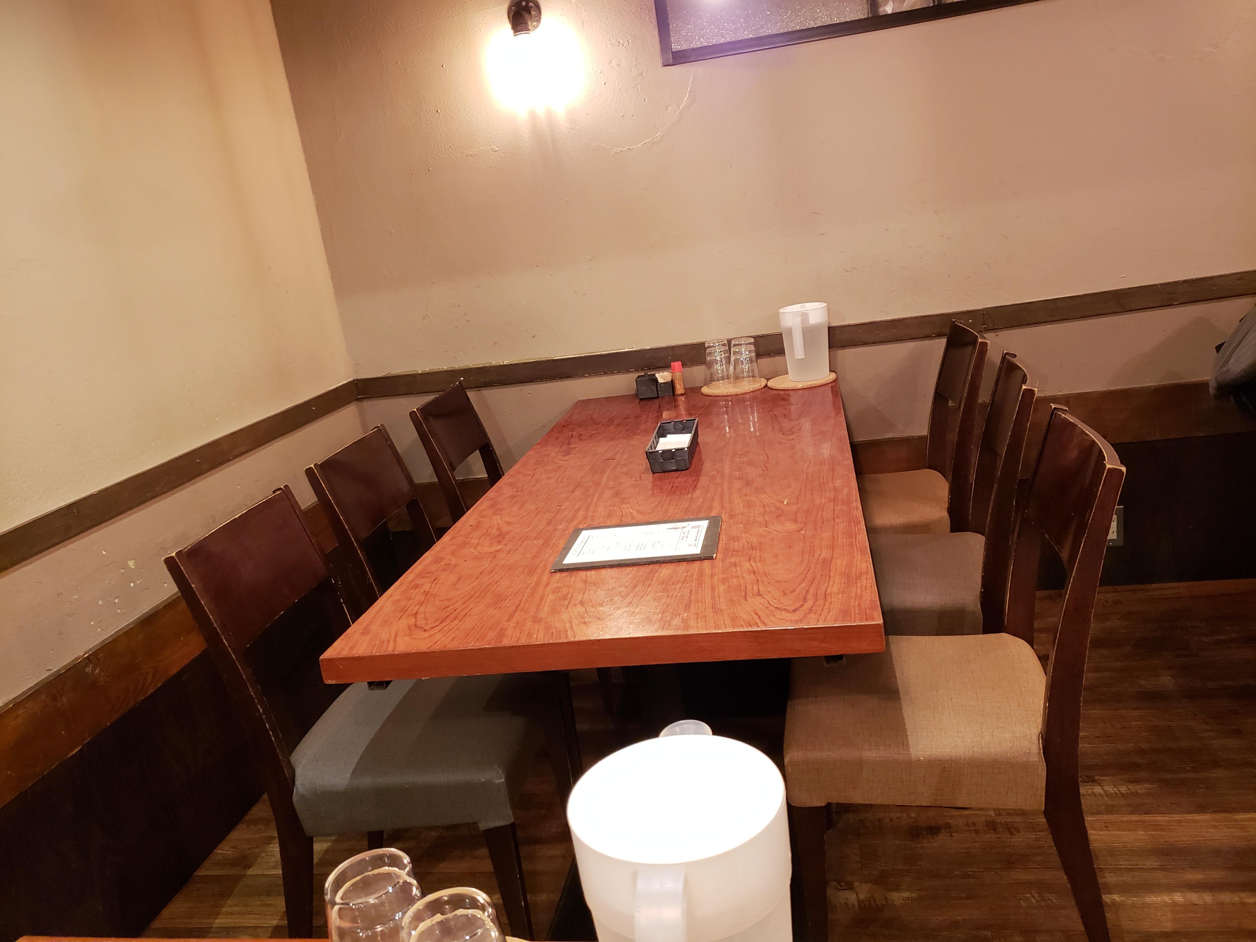 チカノミのテーブル