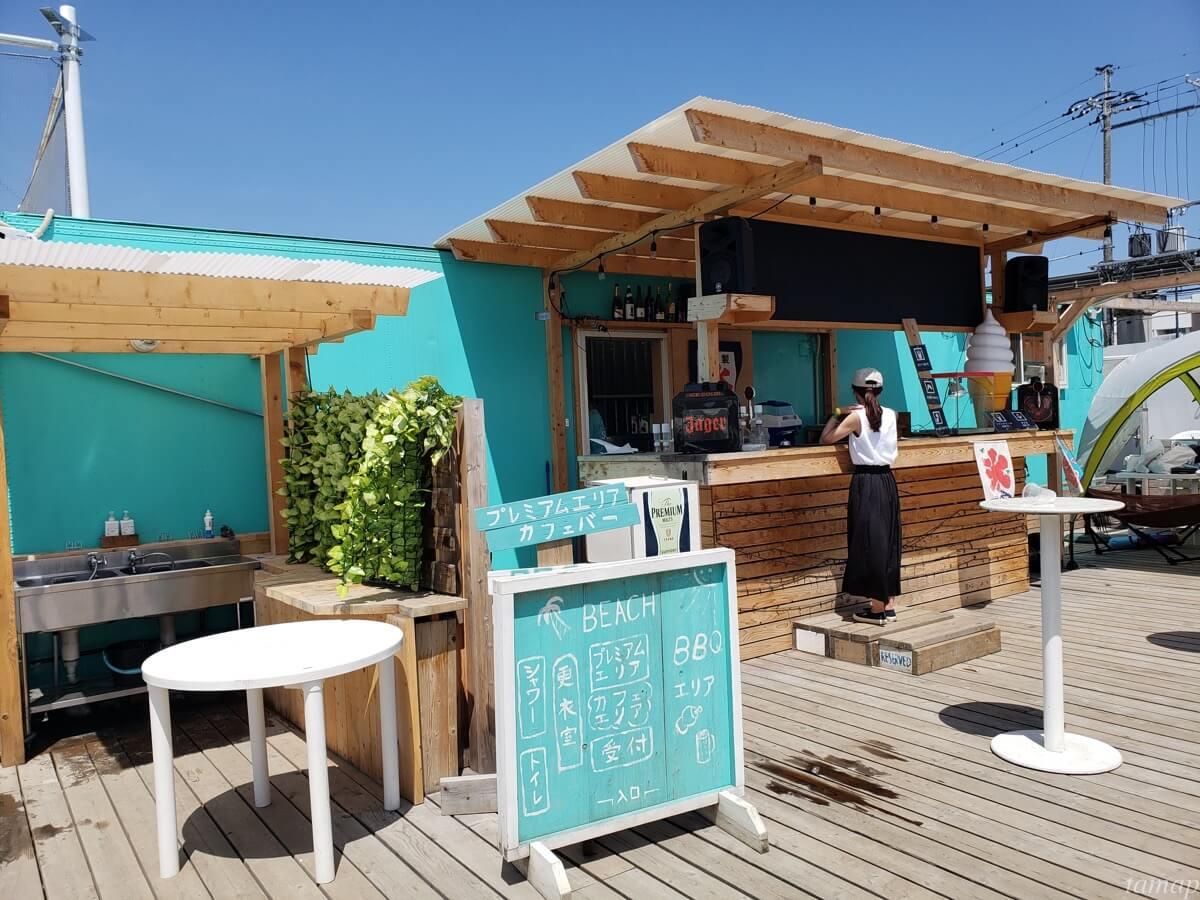 タヒチビーチのドリンク飲む場所