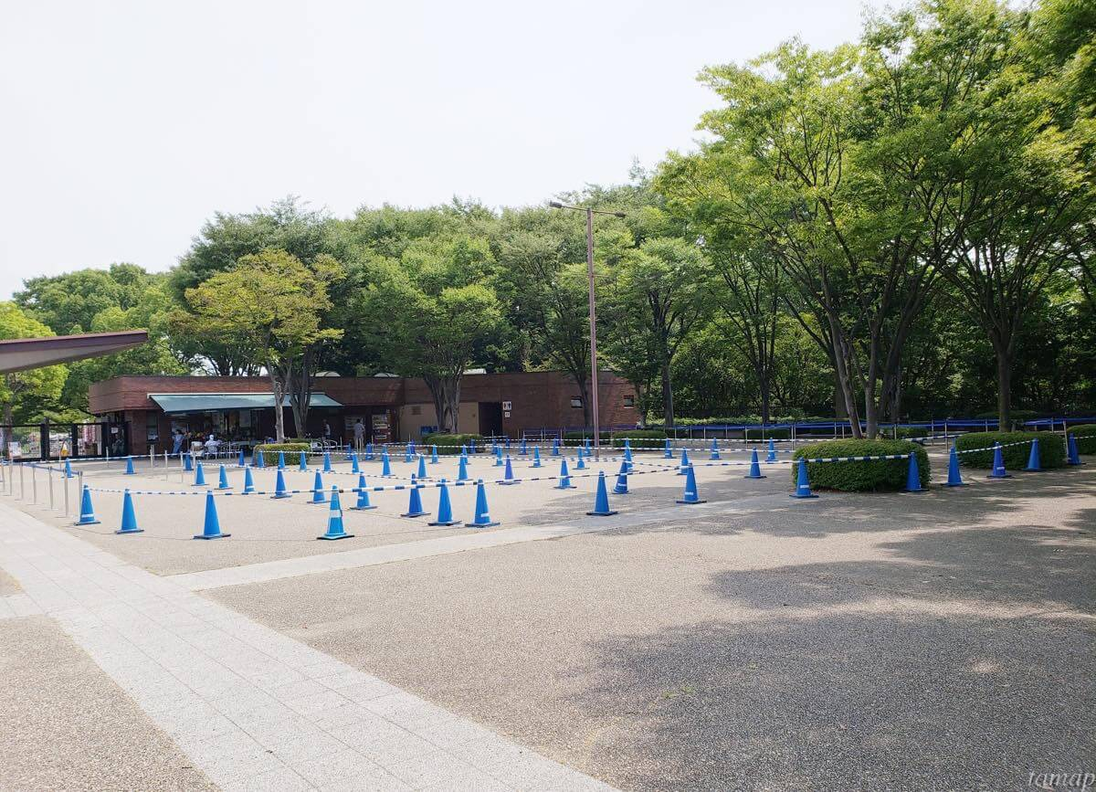 昭和記念公園の駐車場