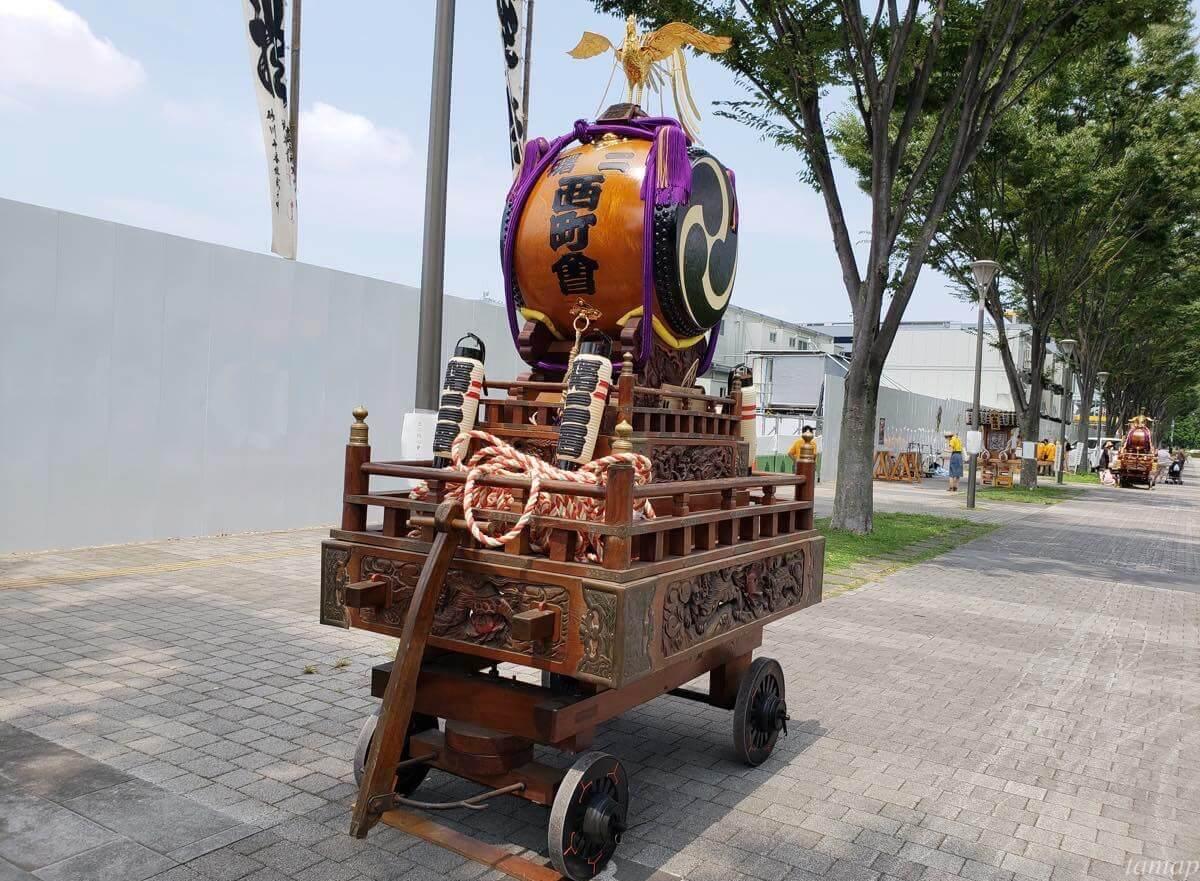 立川よいと祭りの太鼓
