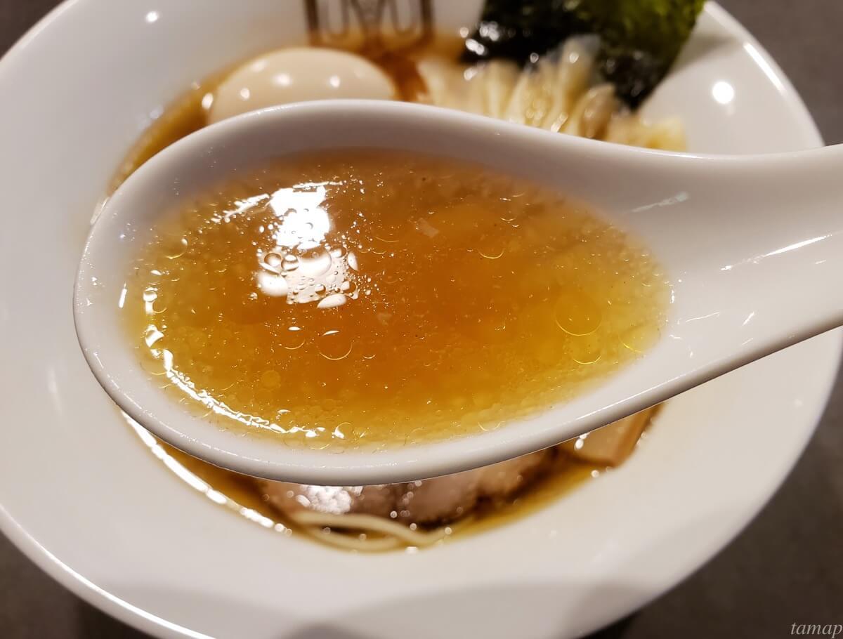 海老ラーメンのスープ