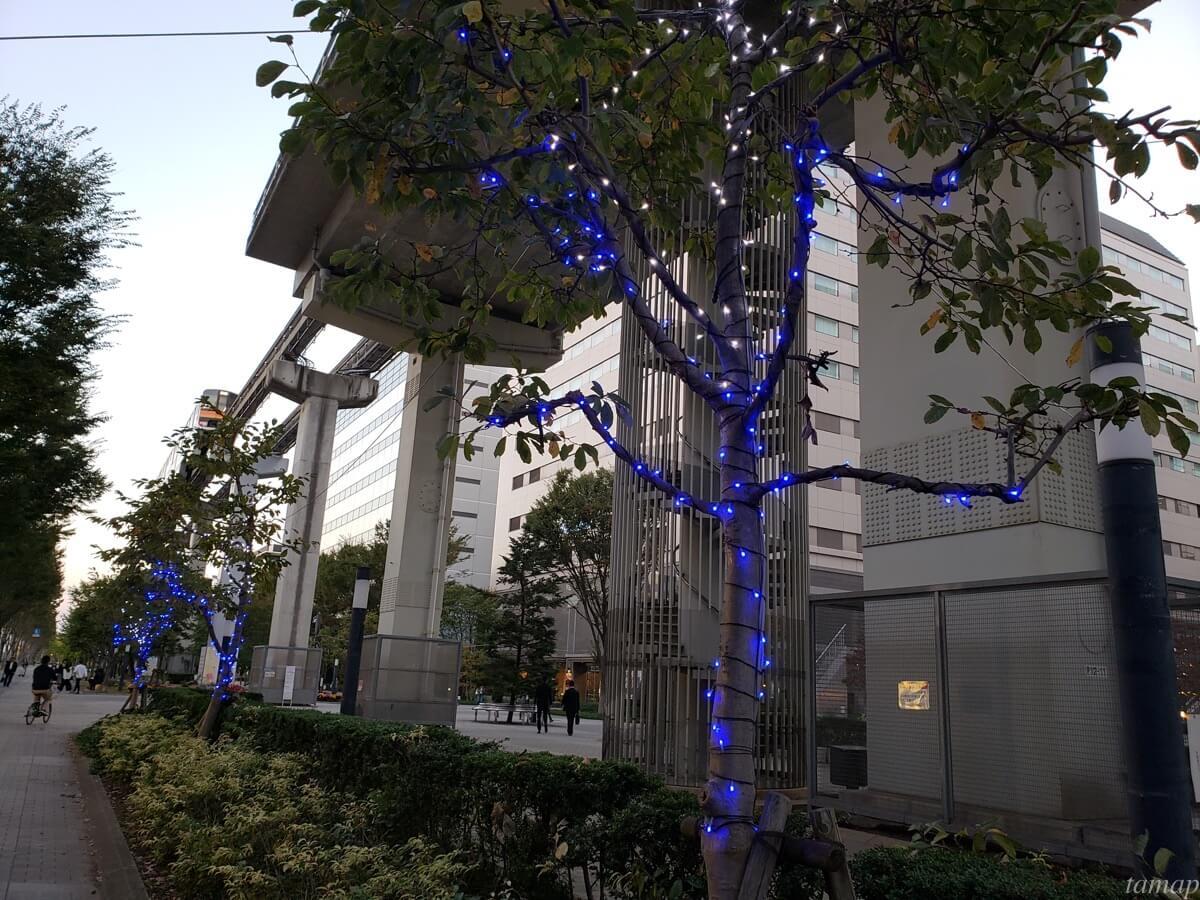 立川北口駅前のイルミネーション