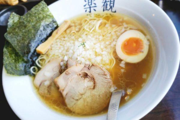 立川で有名なラーメン店「楽観 立川店」で優しさの中にコクがある「特製パール」食べてきた