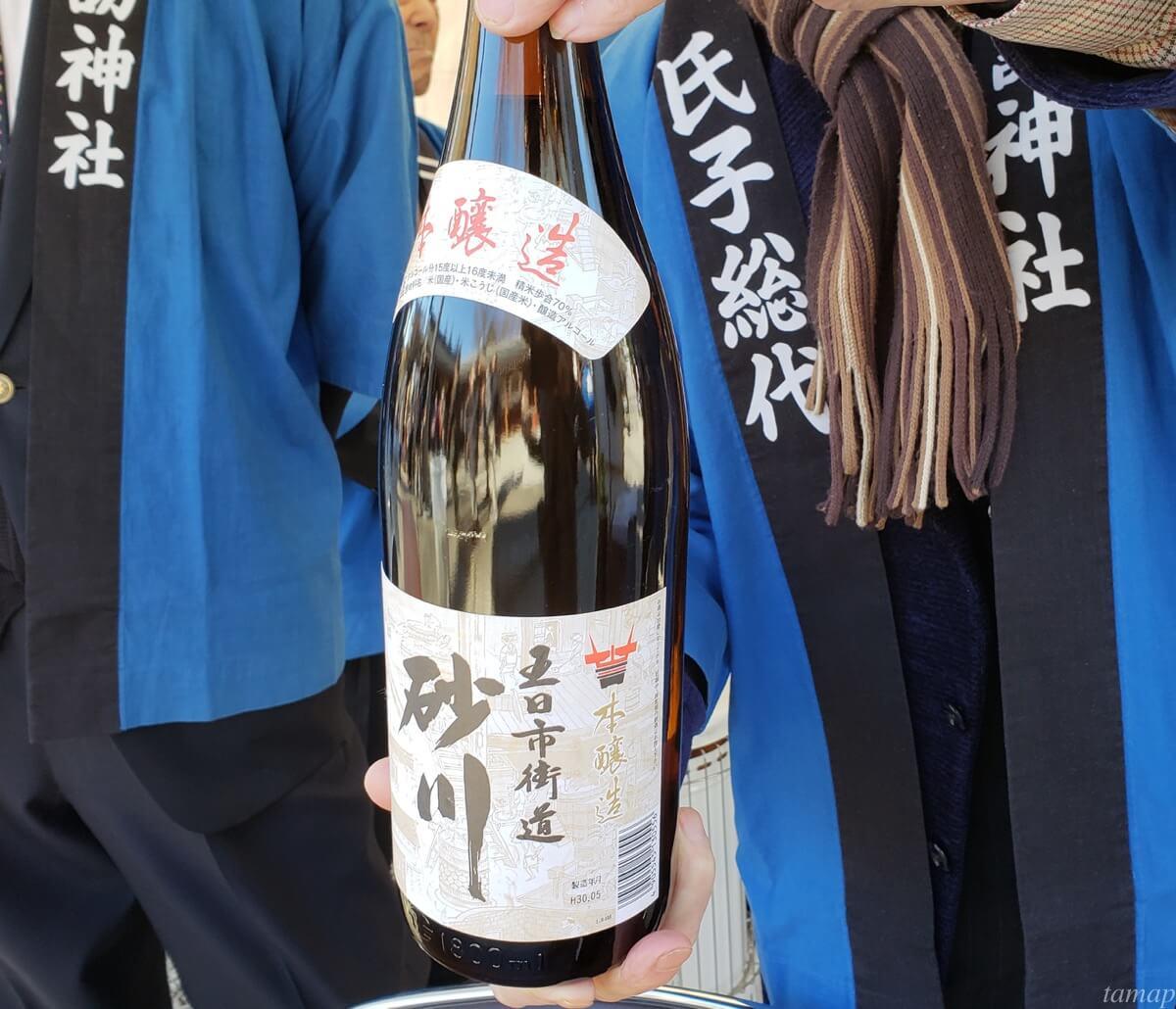 諏訪神社も酒