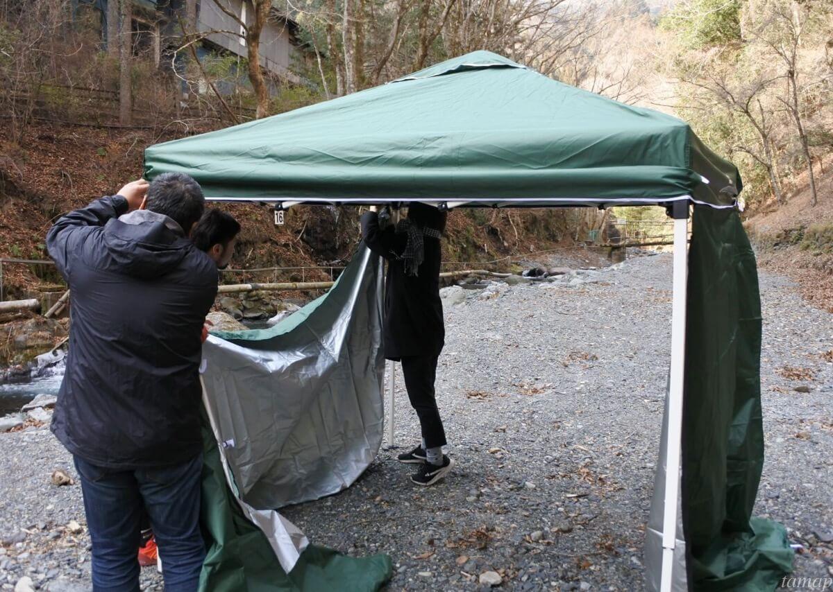 奥多摩のテント