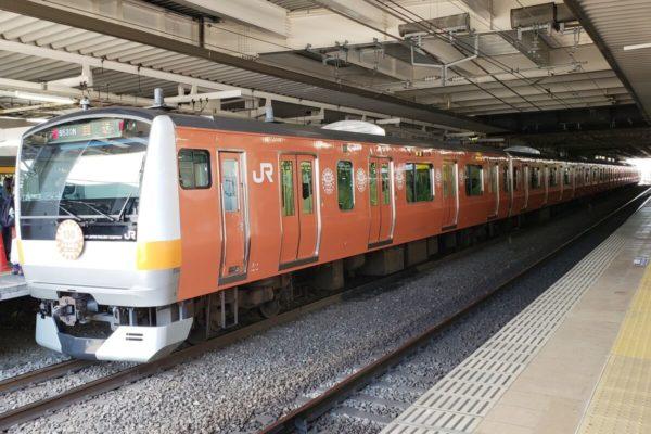 中央線開業130周年記念!立川駅のラッピングトレイン展示イベントに行ってきた