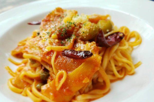 ガルパン裏メニュー「新・干し芋パスタ」を立川シネマカフェで食べてきた。クリームソーダに例の飲み物も