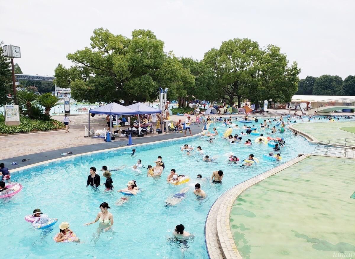 昭和記念公園のレインボープール