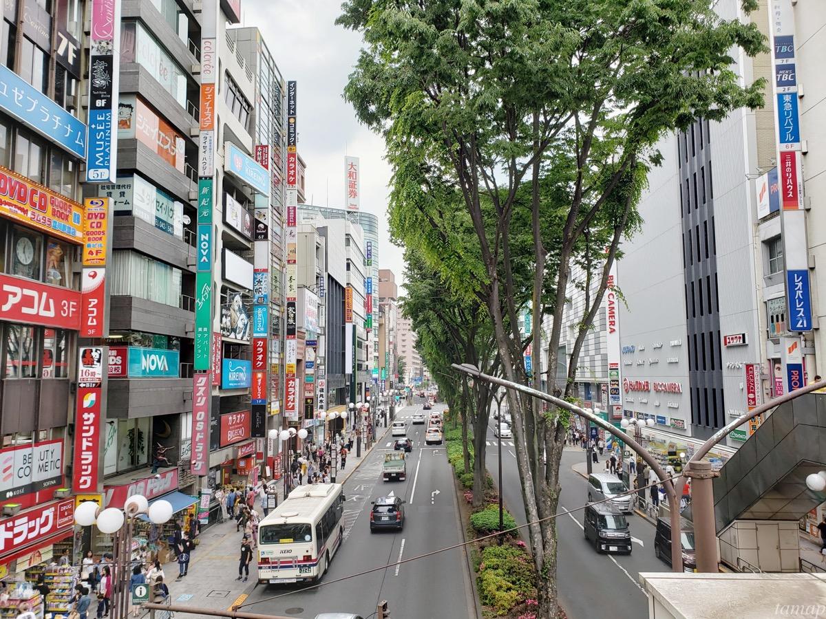 立川駅から向かう進路