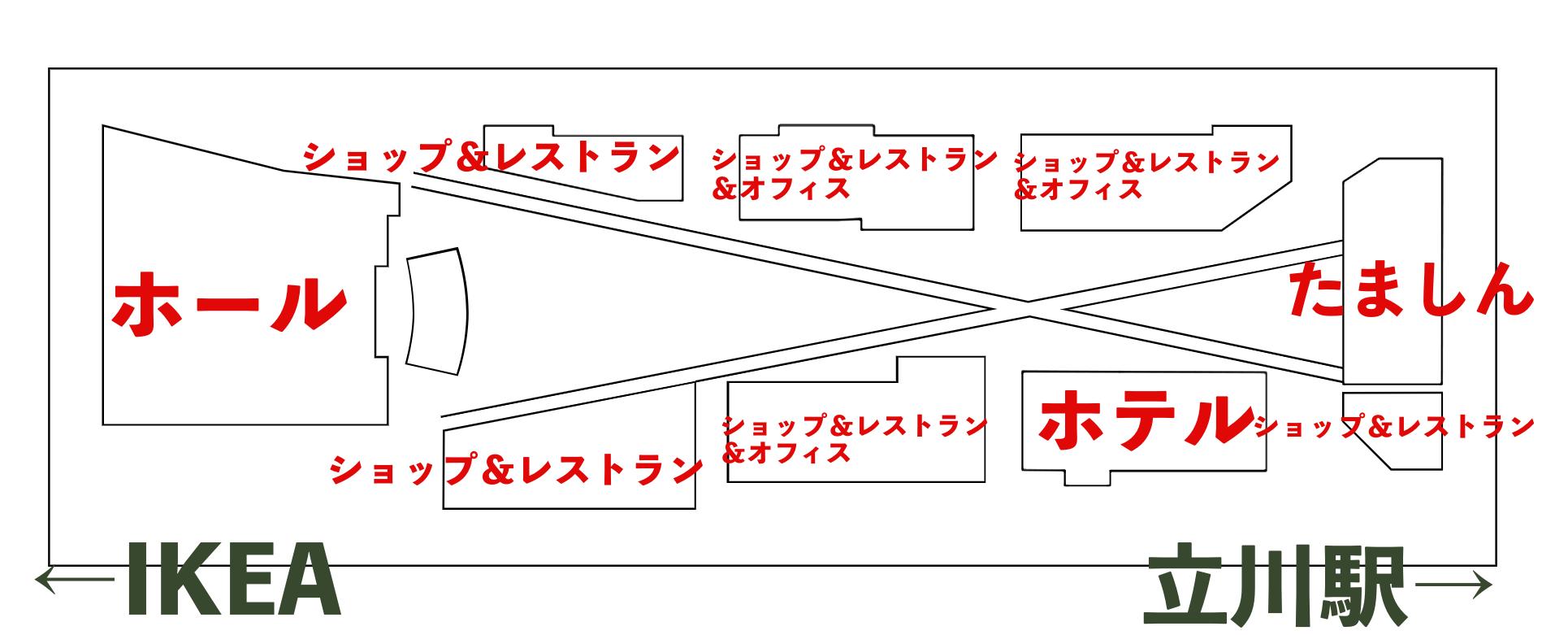 GREEN SPRINGSの配置図