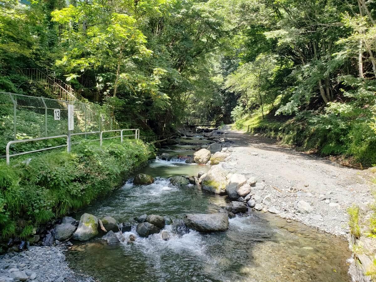 峰谷川渓流場