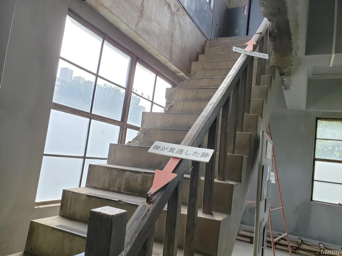 東大和市「旧日立航空機株式会社変電所」の階段