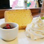本棚珈琲ノルテ店のシフォンケーキ
