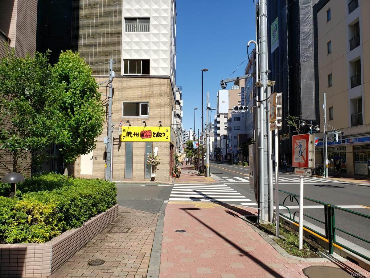 九州博多ラーメン「長浜や」までの道