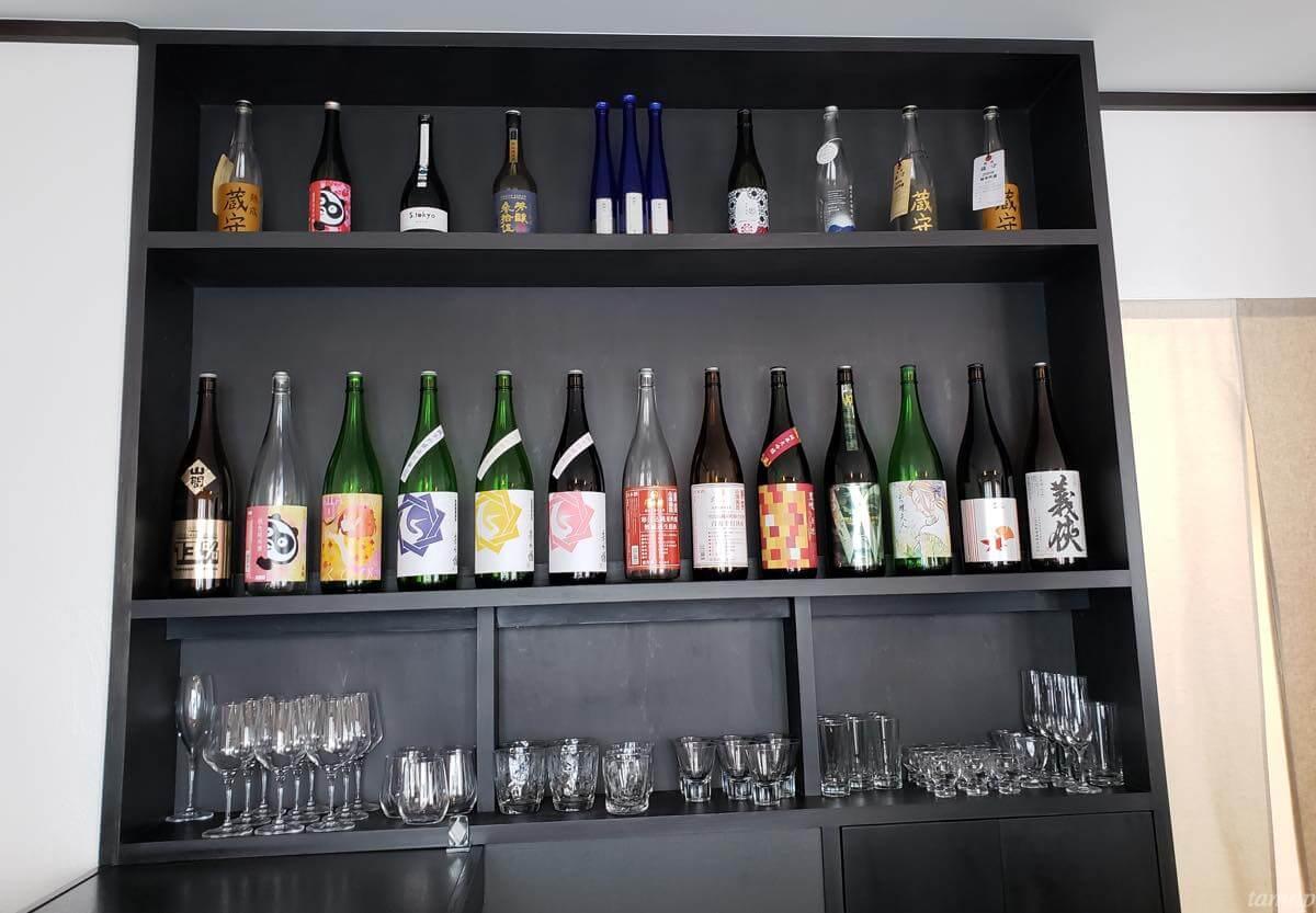 並んでいる日本酒たち