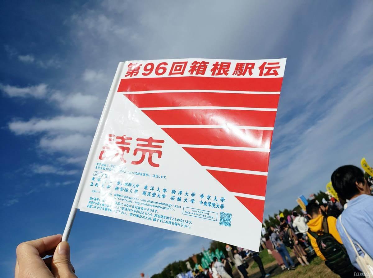 第96回箱根駅伝予選会の旗