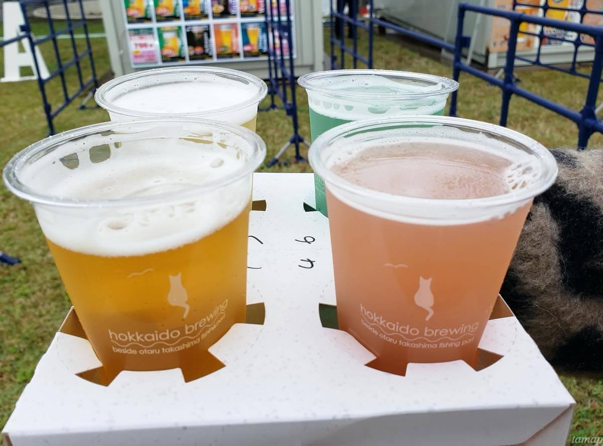 クラフトビールの飲み比べ