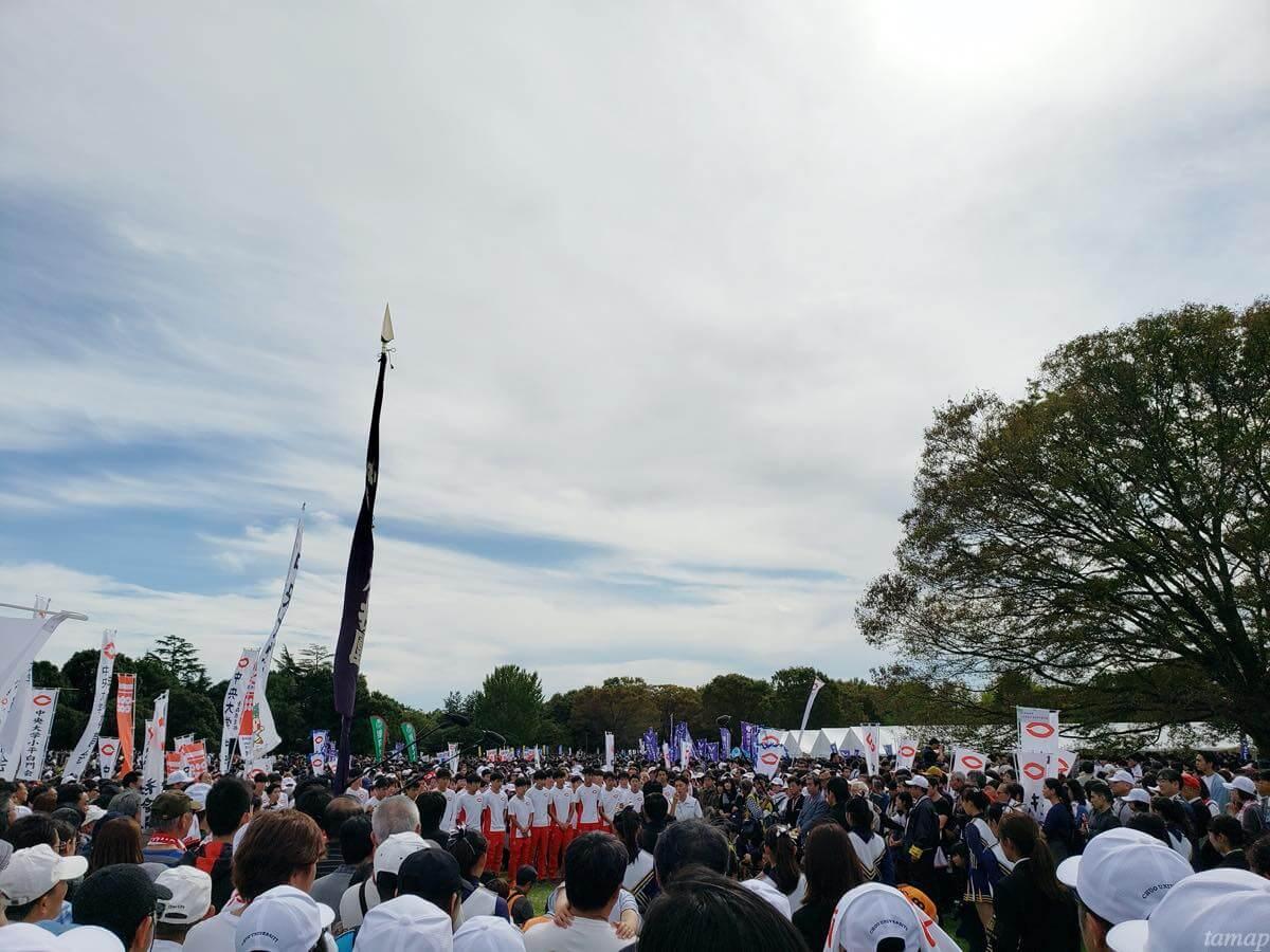 第96回箱根駅伝予選会を終えた大学生たち