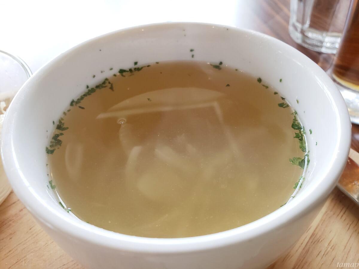 「薪焼 Makibi 立川」のスープ
