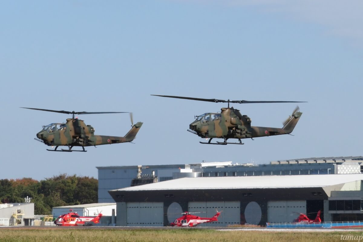 立川防災航空祭のヘリコプター