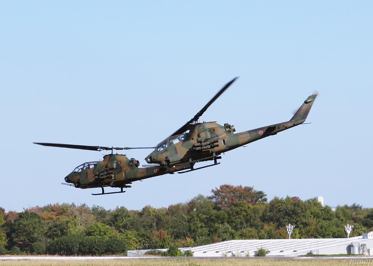 立川駐屯地のヘリコプター