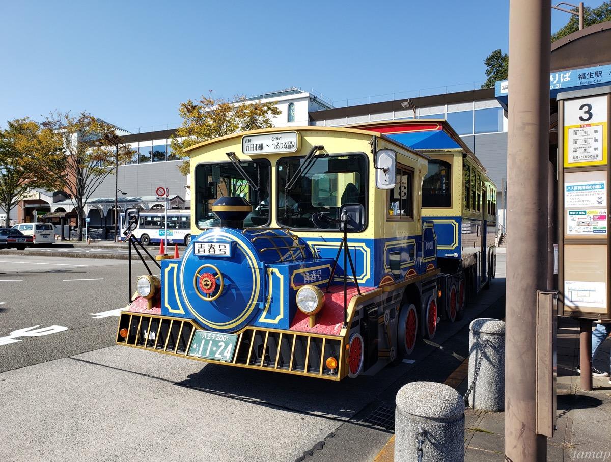 武蔵五日市駅の機関車バス