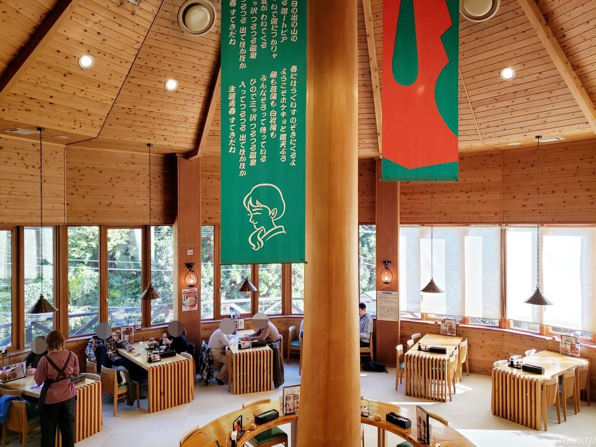 つるつる温泉のパノラマ食堂