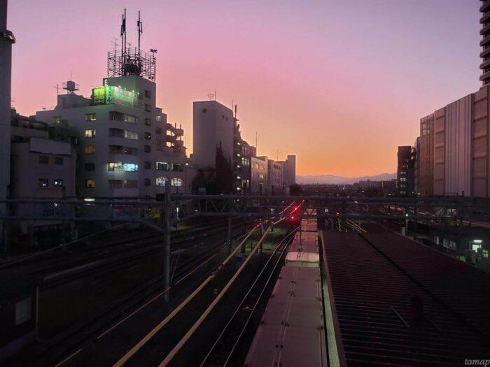 立川駅北口からの眺め