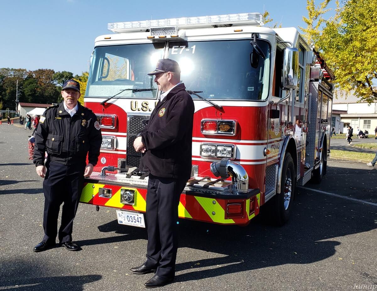 立川駐屯地の消防車