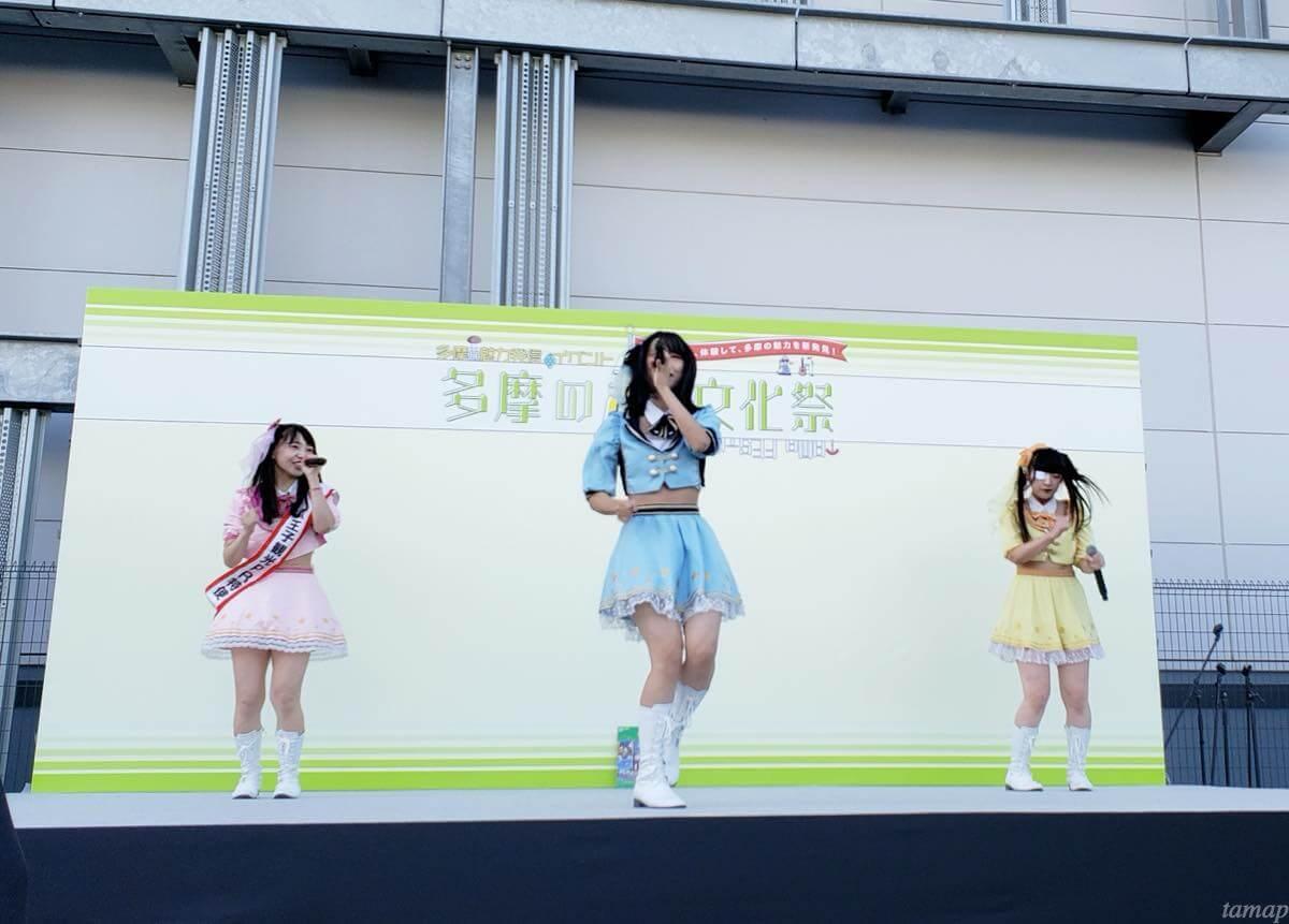 多摩の超文化祭のアイドルステージ