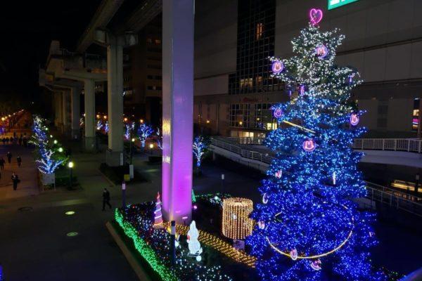 立川駅前サンサンロード「もみの木イルミネーション」を見ていると寒さも忘れてしまう