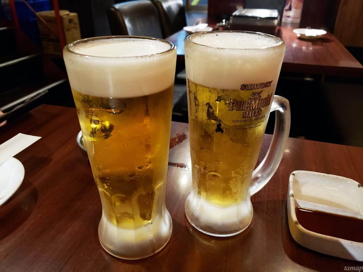 『焼肉 大幸園 立川店』のビール
