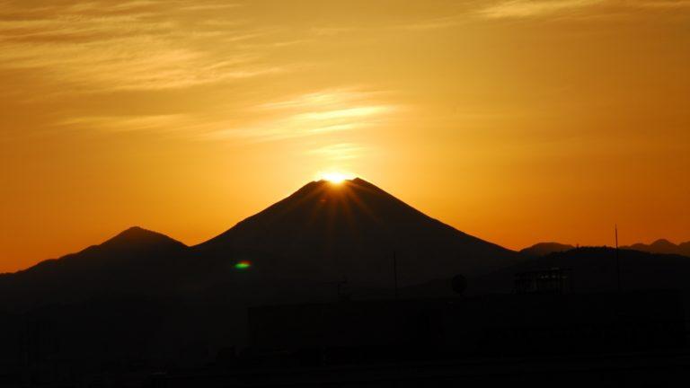 立川駅ビルからのダイヤモンド富士