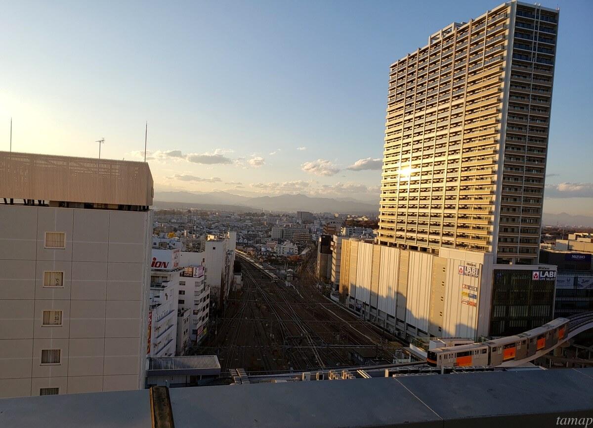グランデュオ立川屋上からの眺め