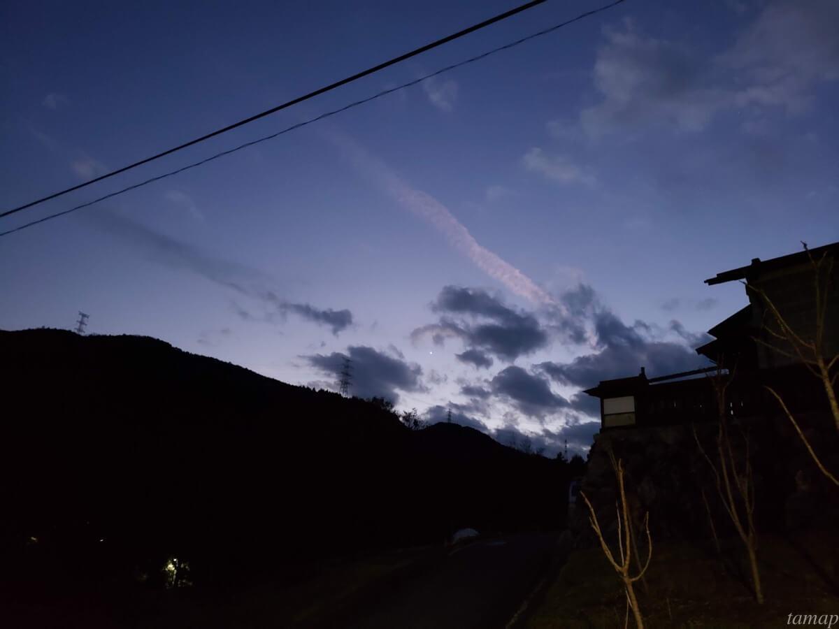 多摩地域の夜空
