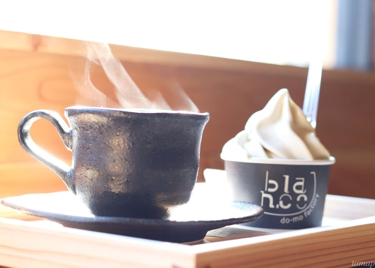 blan.coのアイスクリームとコーヒー