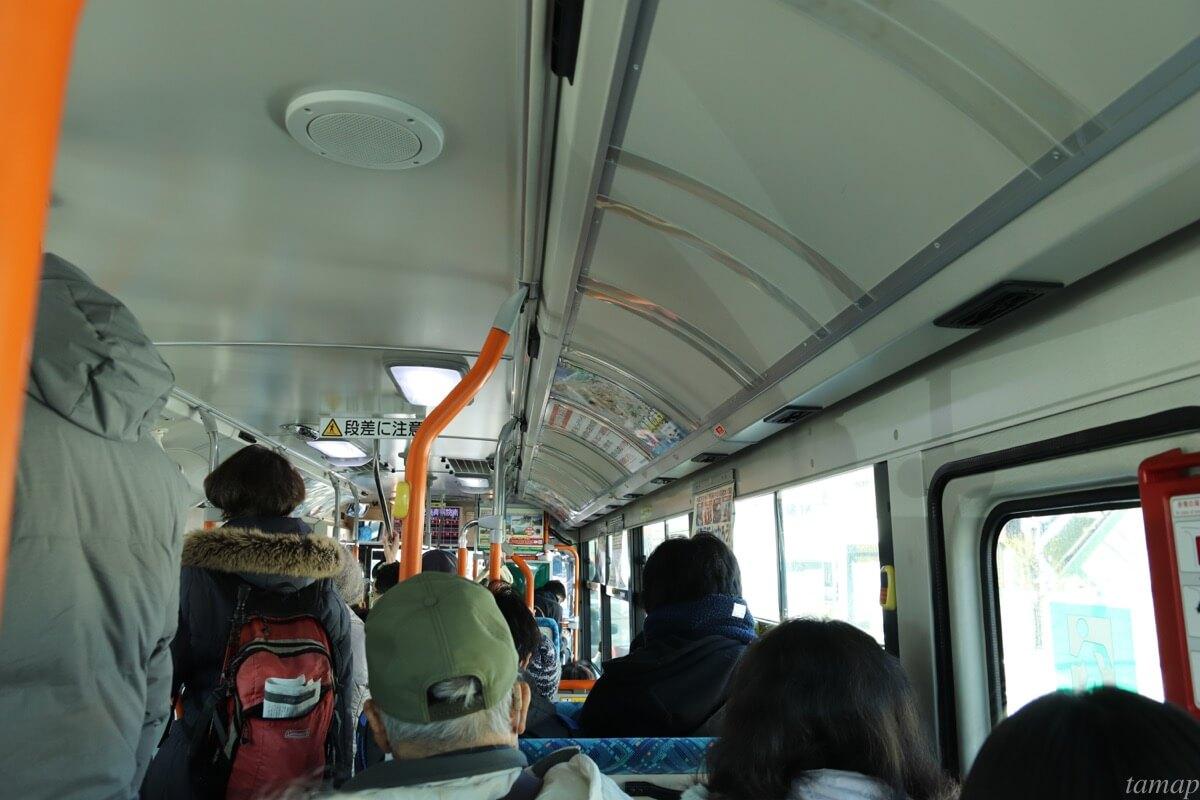 立川バス内