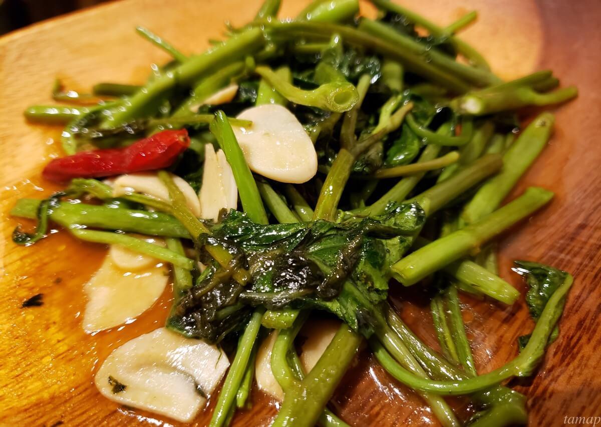 空芯菜の炒めもの