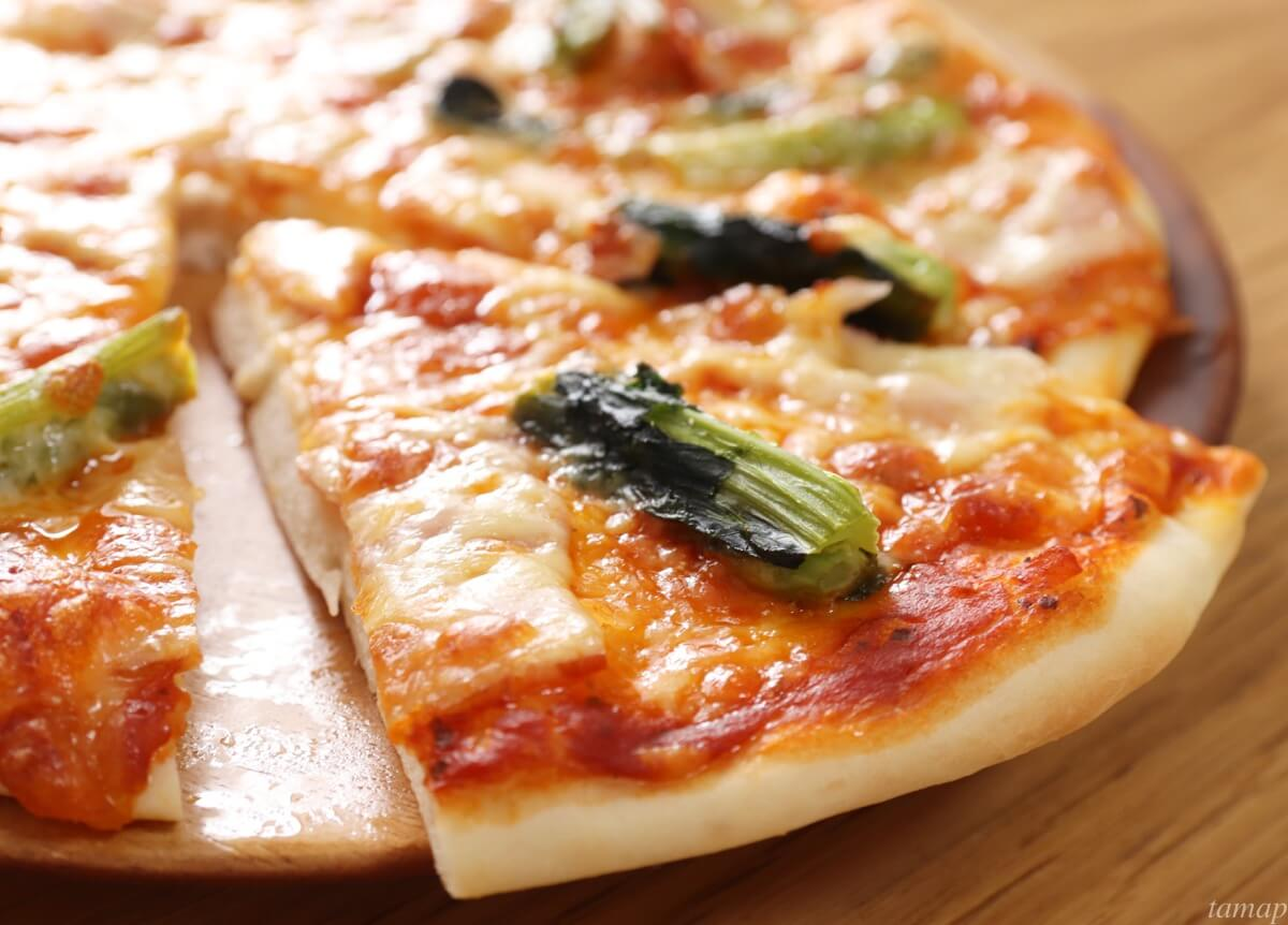 のらぼう菜のピザ
