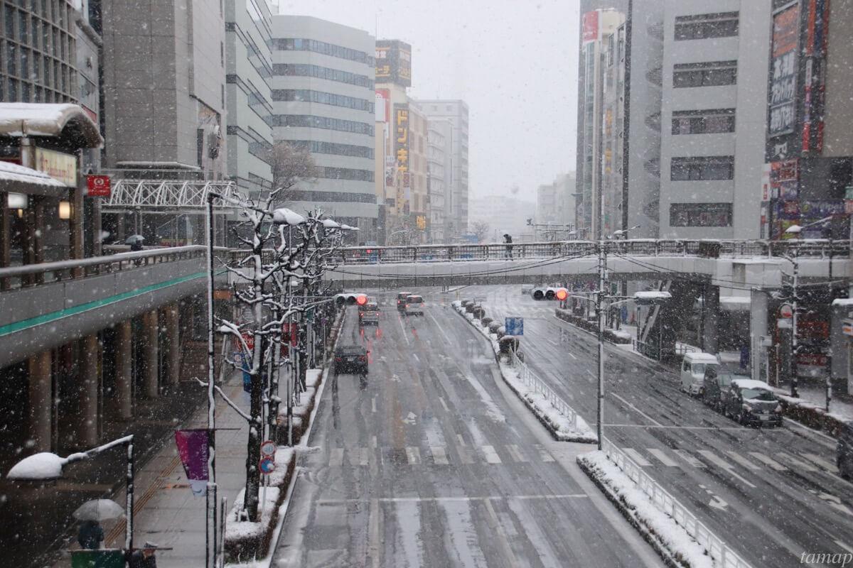 立川高島屋の雪