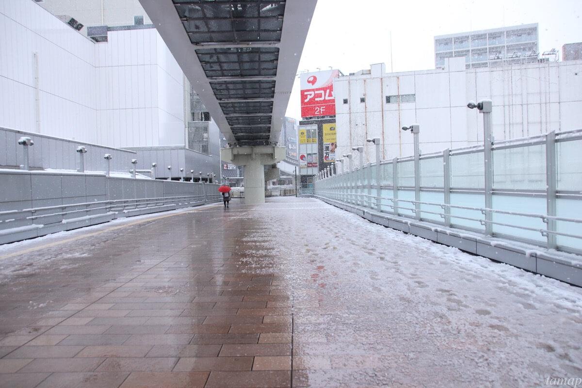 立川駅のペデストリアンデッキ