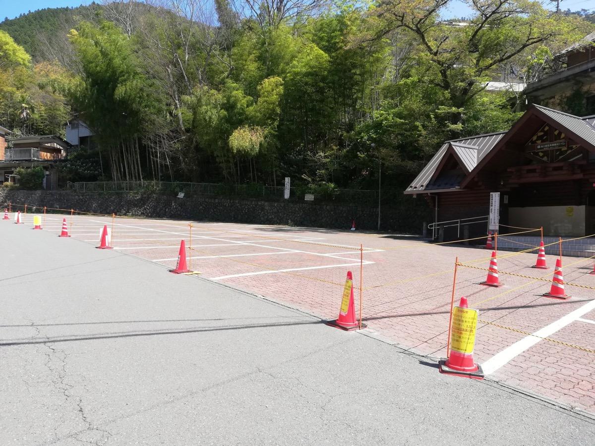 鳩ノ巣駐車場の閉鎖状況
