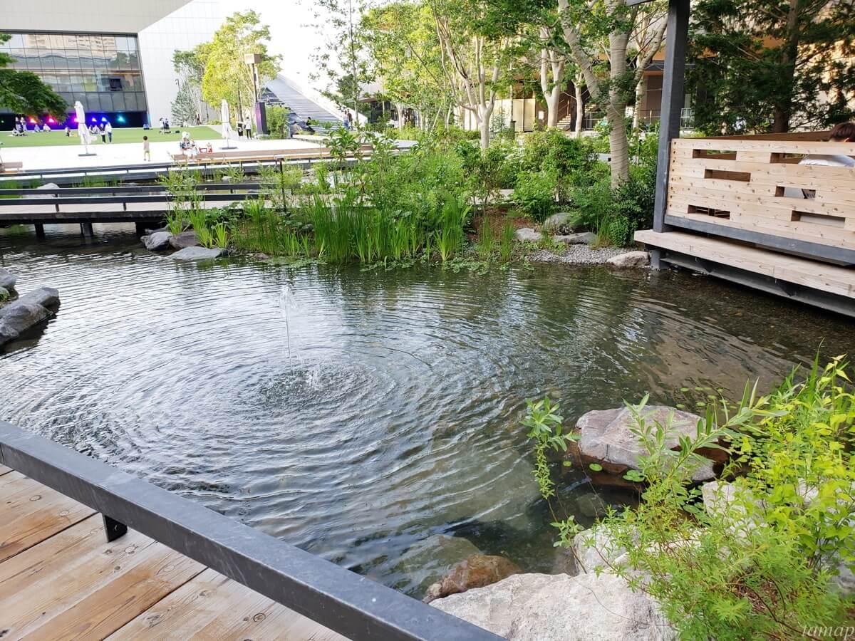 GREEN SPRINGSの池