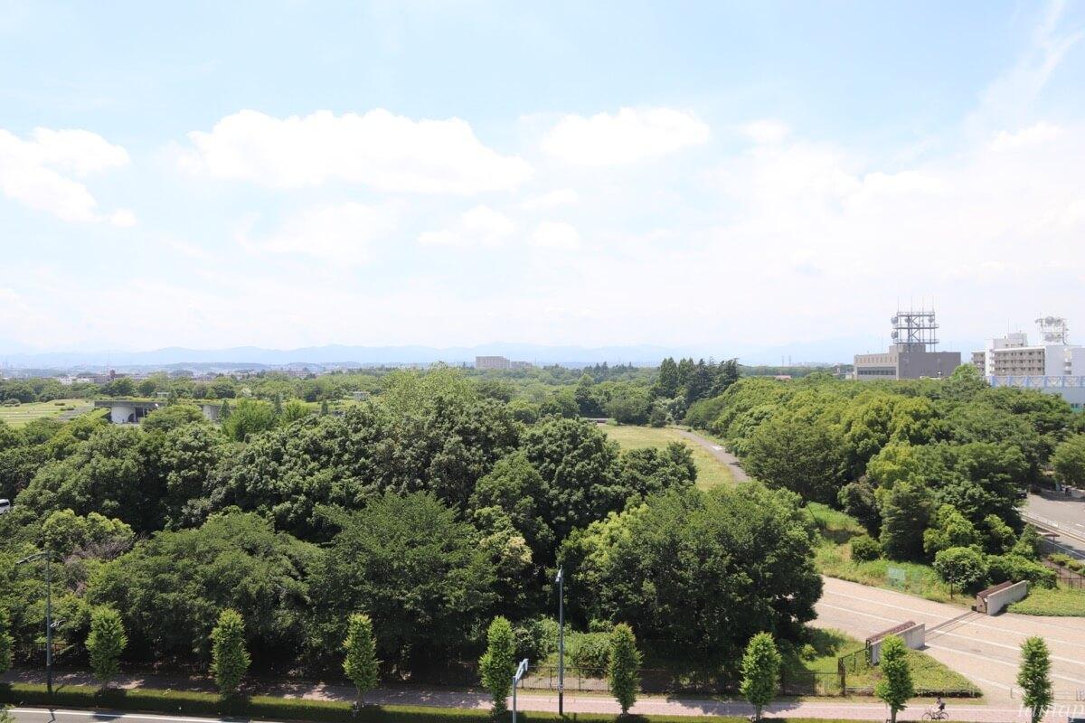 立川ステージガーデン上空の眺め