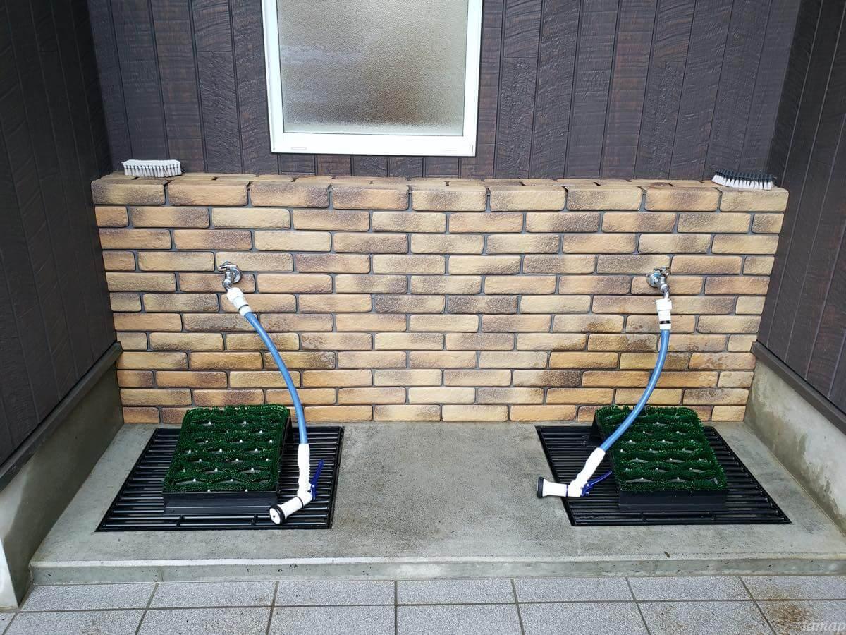 奥多摩駅内の洗い場