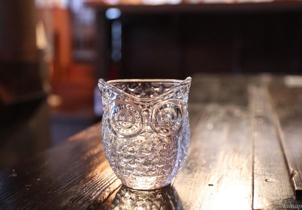 フクロウのグラス