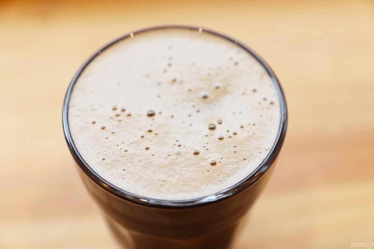コーヒービールの泡