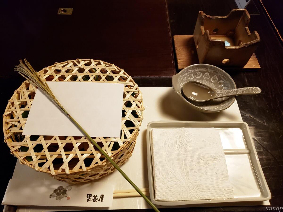 黒茶屋の料理