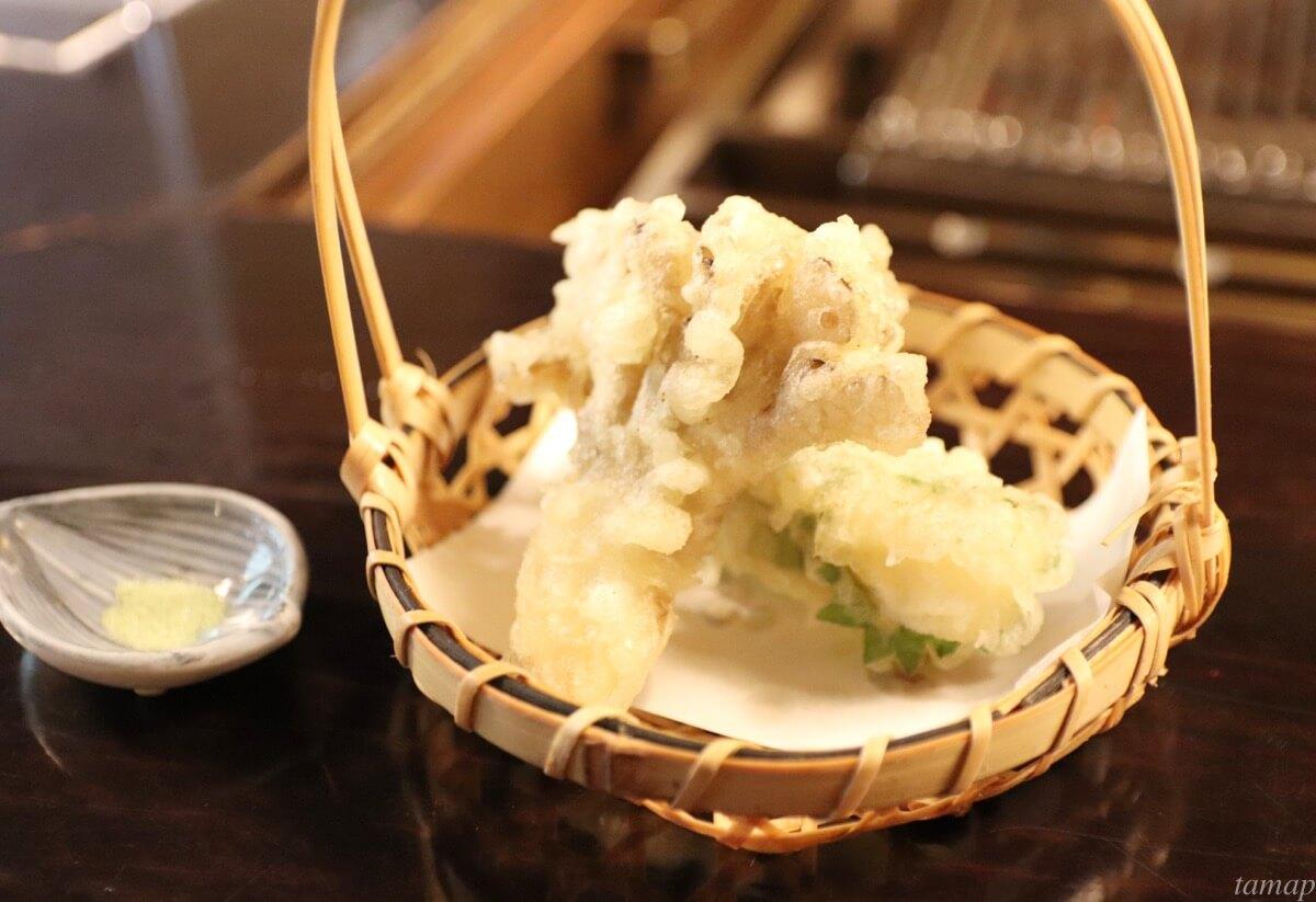 黒茶屋の天ぷら